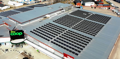 Stora Coop Kristinehamn solceller Nordic Solar