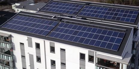 Kvarteret Eliten Linköping solceller Nordic Solar